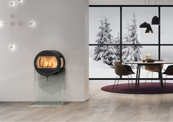 Relaxing fire nibe stoves